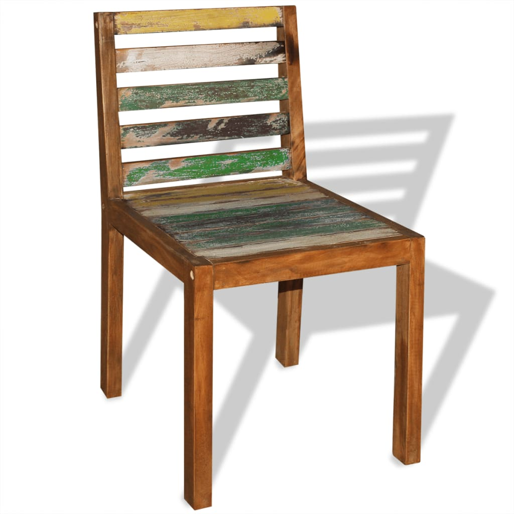 Wood Dining Chairs Vidaxl Dining Chairs 2 Pcs Solid Reclaimed Wood 45x55x85