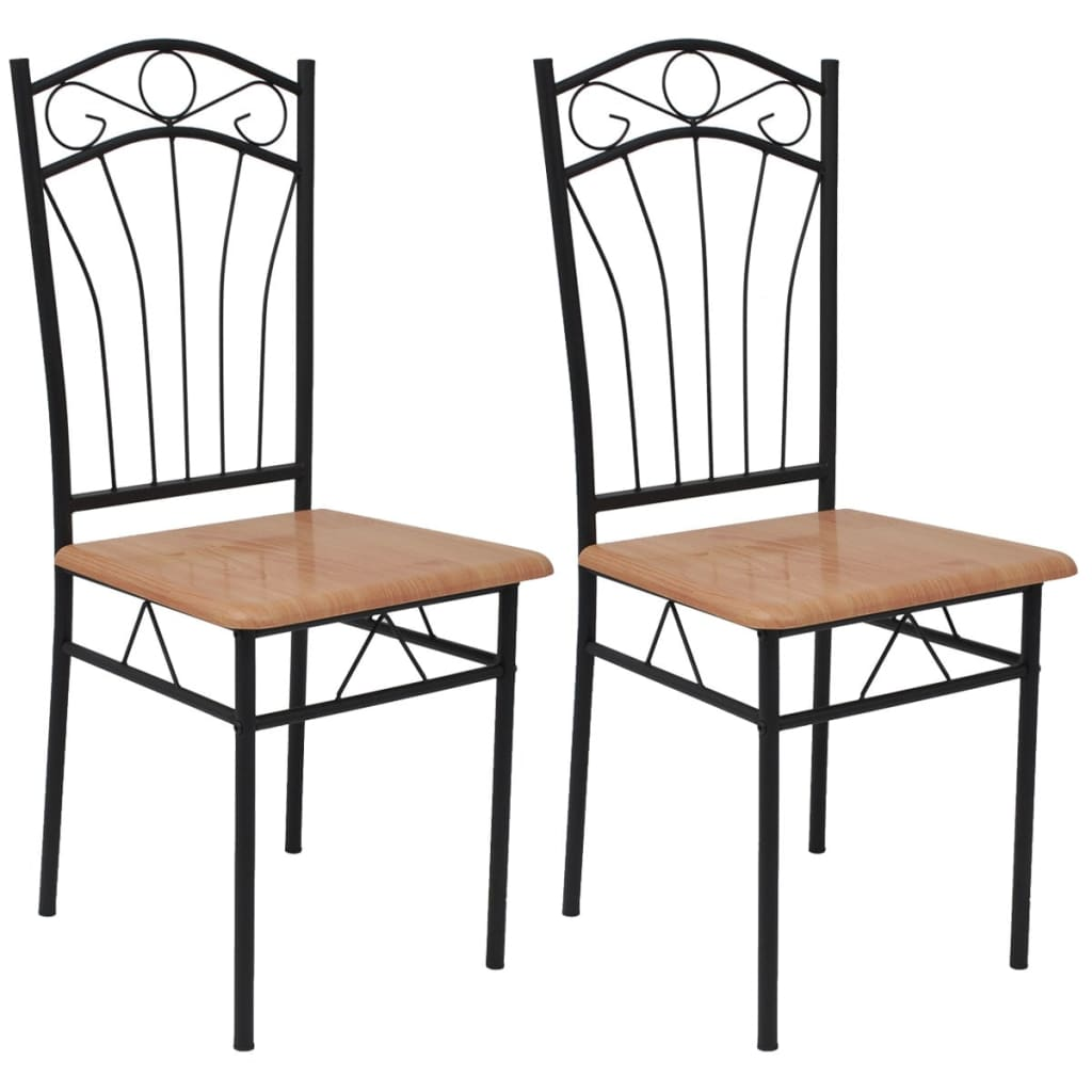 Sturdy Dining Room Chairs Kitchen Dining Room Chairs Set Of 2 Stylish Sturdy Steel High Back Seating Brown