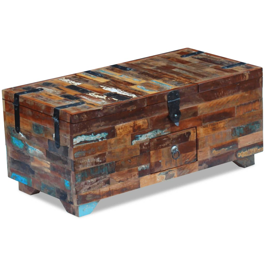 vidaXL Coffee Table Box Chest Solid Reclaimed Wood