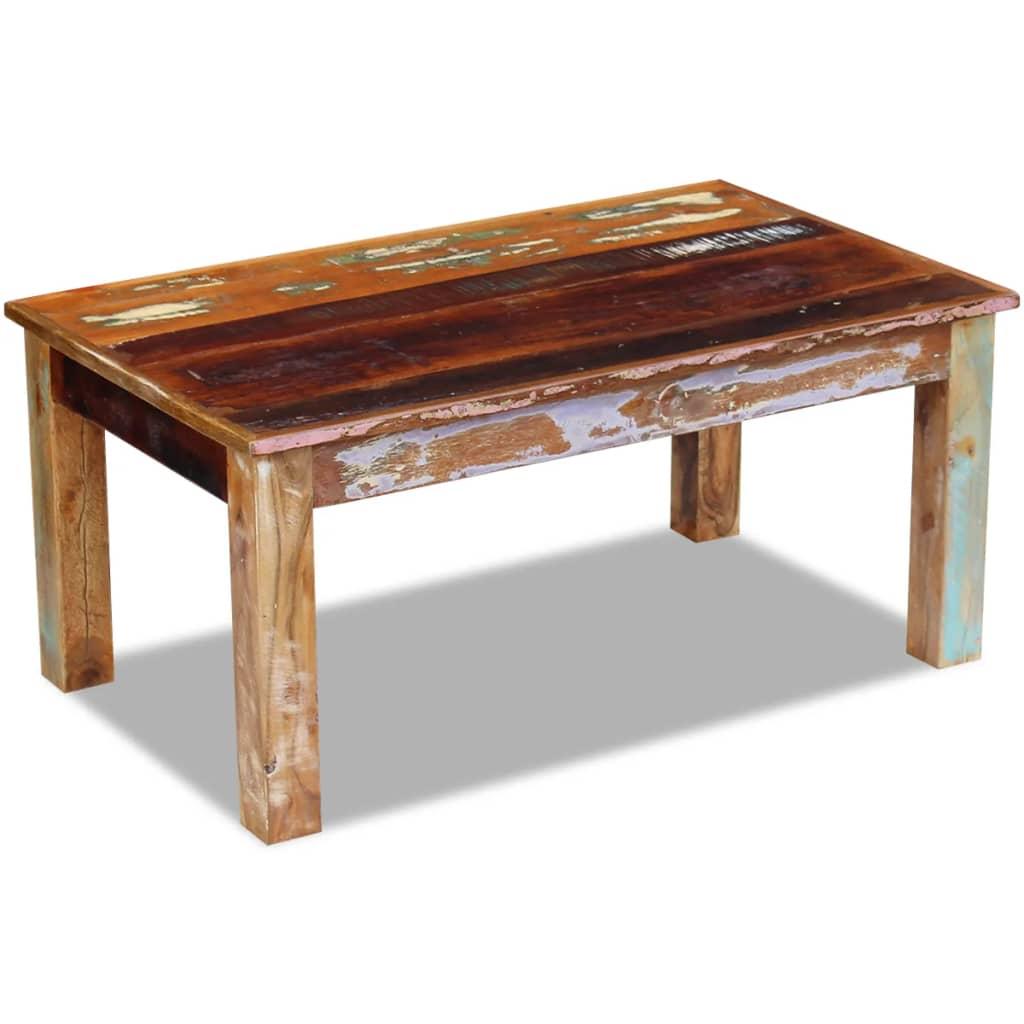 vidaXL Salontafel massief gerecycled hout 100x60x45 cm