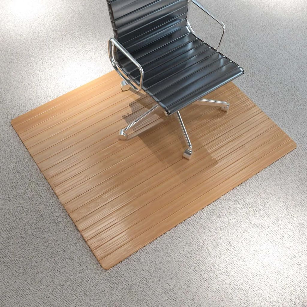 office chair mat bamboo the chronicles of narnia silver vidaxl floor protection natural