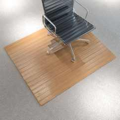 Chair Wood Floor Protector Double Pressed Back Oak Chairs Vidaxl Mat Protection Bamboo Natural