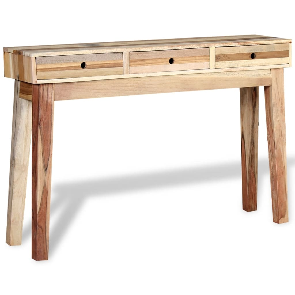 solid cherry sofa table budget sets in sri lanka vidaxl console reclaimed wood co uk