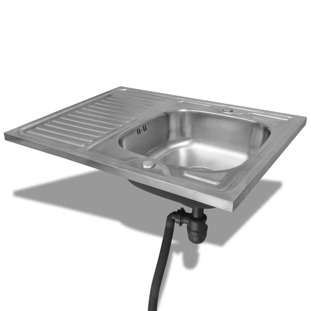 kitchen cabinet unit 10x10 design oak look 7 pcs with sink 80 x 60 cm