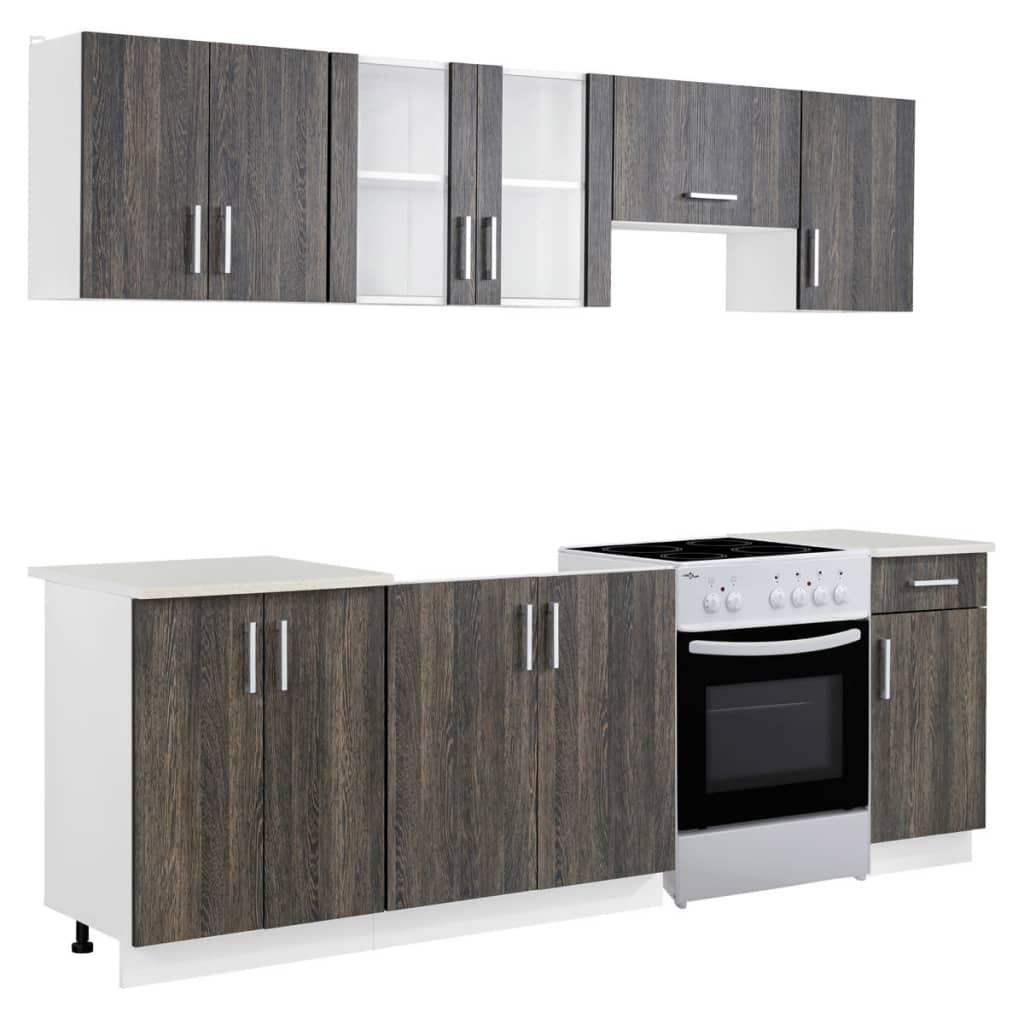 kitchen cabinet unit exhaust fans wenge look 7 pcs with freestanding