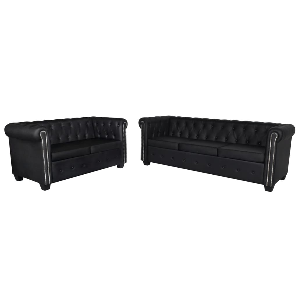 chesterfield sofa leather white sleeper full mattress black 3 2 432 seater