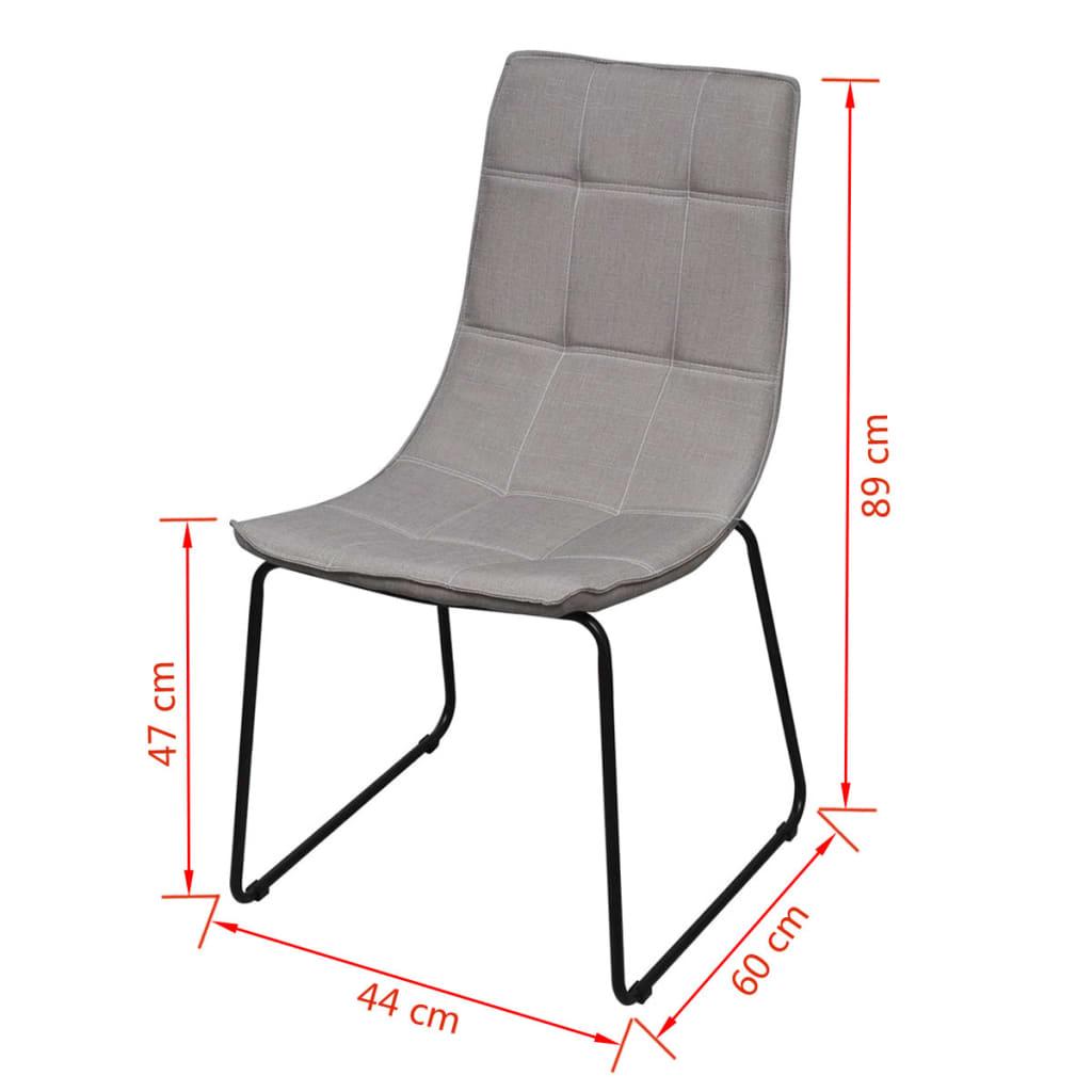6 sillas de comedor gris claro con patas de acero  vidaXLes
