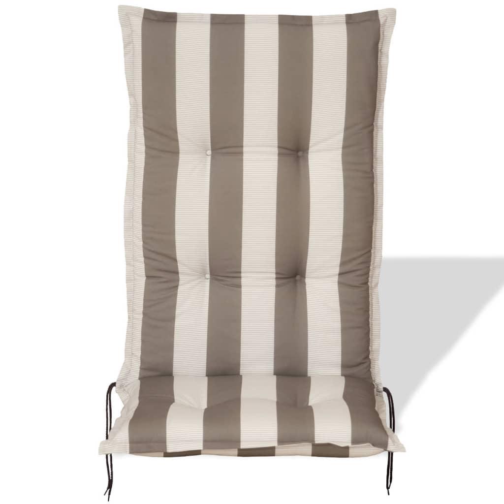 Cuscini Con Schienale Per Sedie Da Esterno : Cuscini a righe set cuscini coprisedia per esterno giardino
