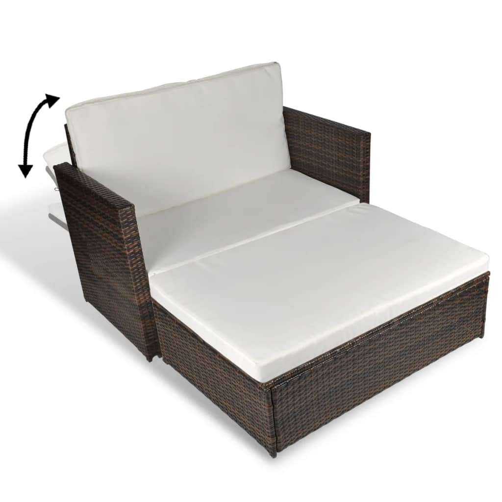folding bed sofa set gray sectional vidaxl 3 in 1 sofabed rattan