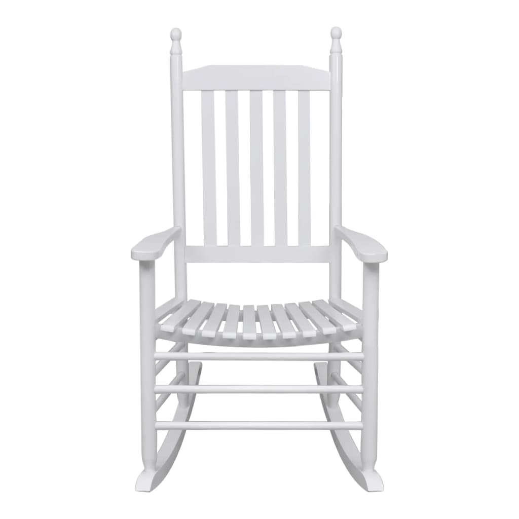 White Wood Rocking Chair Vidaxl Co Uk Wood Rocking Chair White Curved Seat