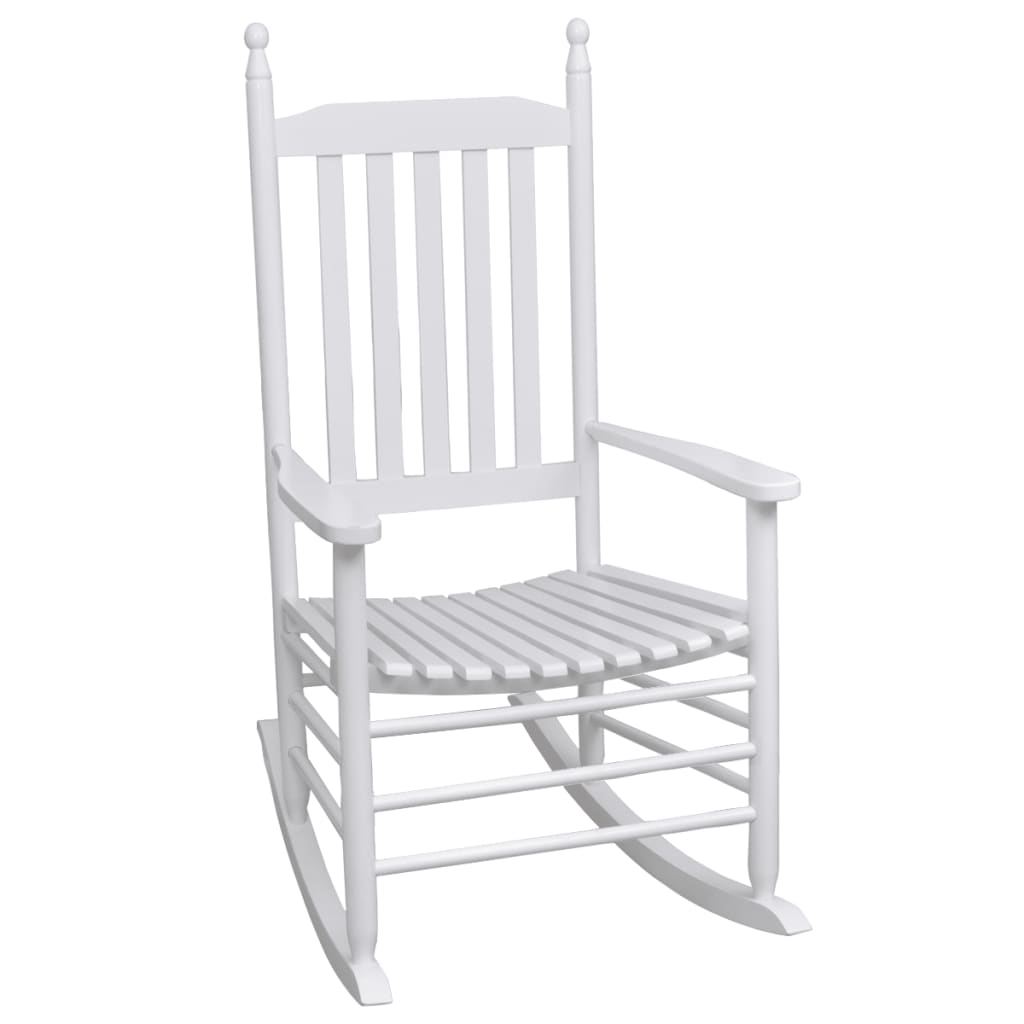 white rocking chairs for sale chair gym with twister seat reviews wood curved vidaxl co uk