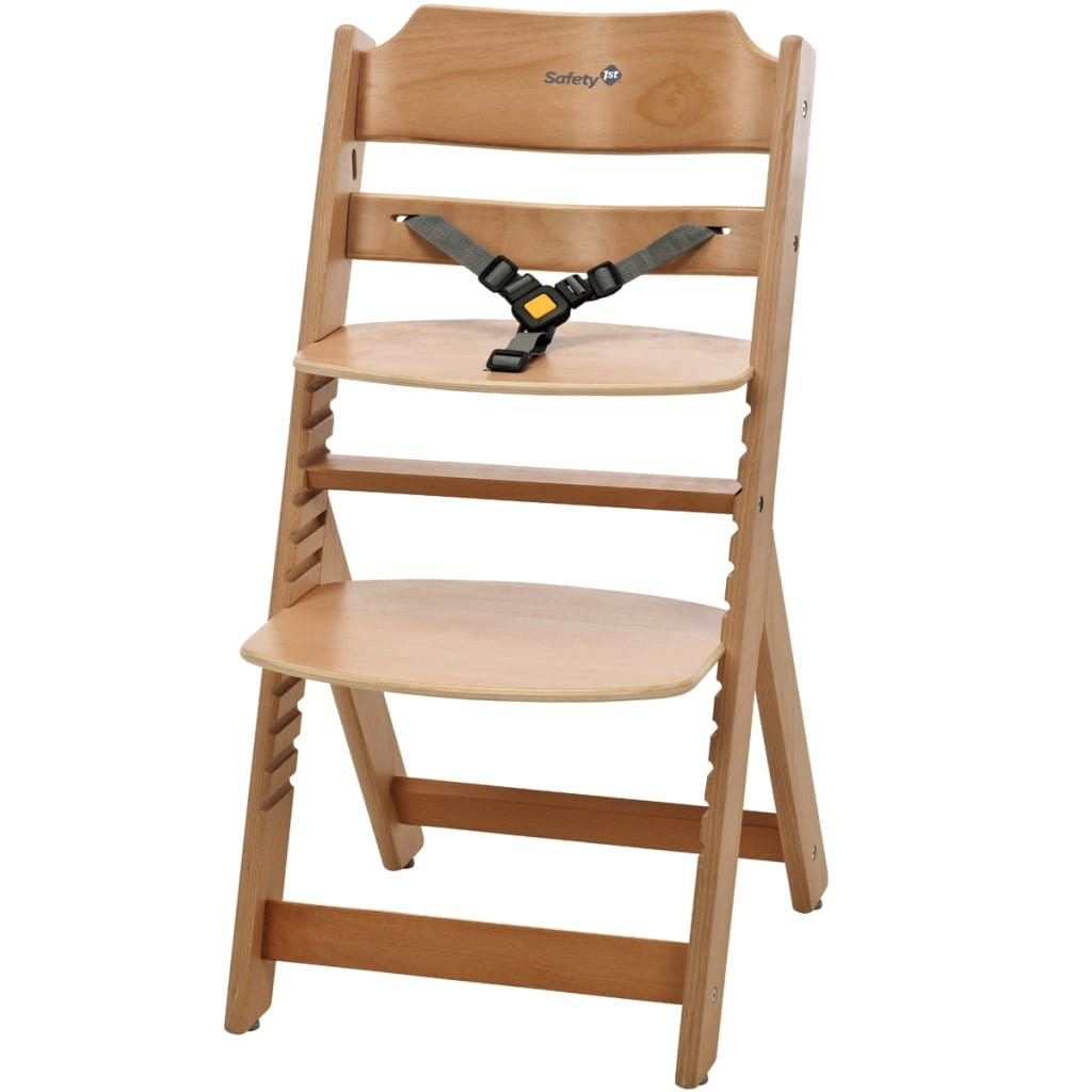 wooden baby high chairs uk bar table and chair set safety 1st timba natural wood 27620100 vidaxl