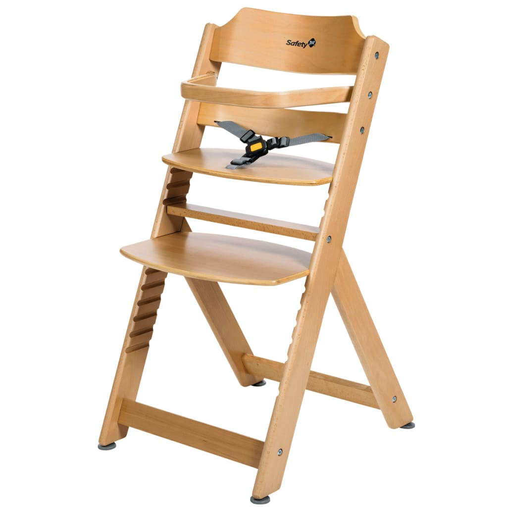 wooden baby high chairs uk seat dining elderly safety 1st chair timba basic natural wood 27980100