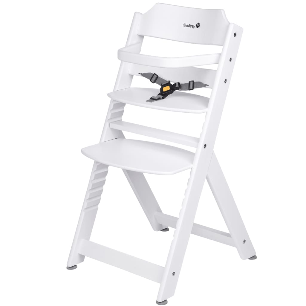 White Wood High Chair Safety 1st High Chair Timba Basic White Wood 27984310