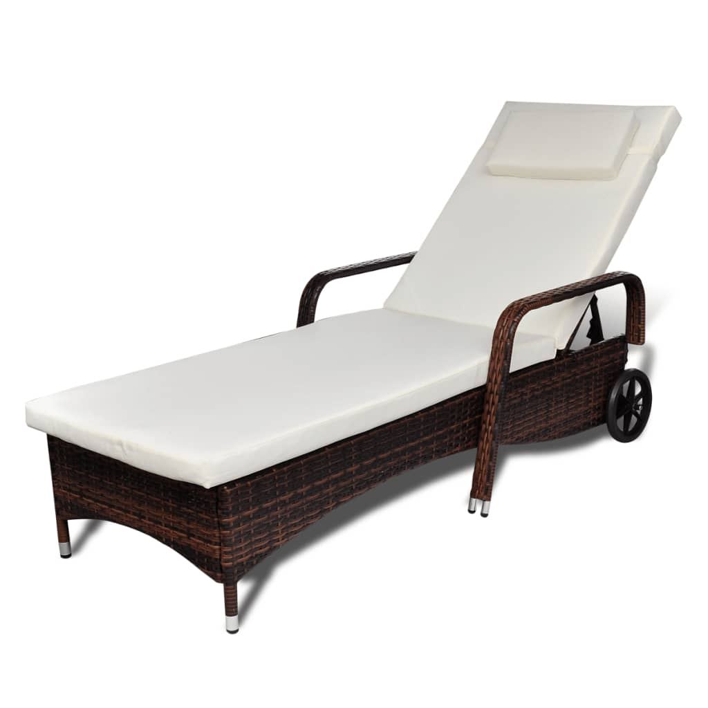 canopy daybed outdoor wicker sun sofa lounge vegas 2 pc microfiber sectional reviews vidaxl bed brown with castors poly rattan