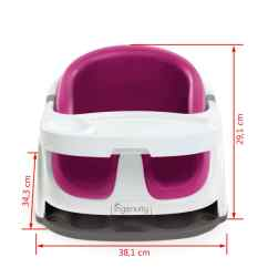 Ingenuity High Chair 3 In 1 Cover Ace Bayou Bean Bag Baby Base 2 Booster Seat Pink Flambe K10866