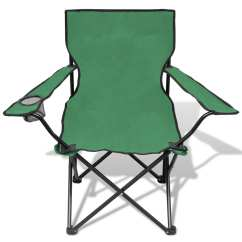 Folding Chair Green Who Sells Beach Chairs Set 2 Pcs Camping Outdoor With Bag