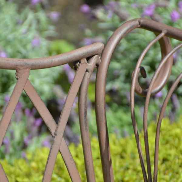 Esschert Design Garden Bench Metal English Style Mf009