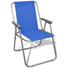 Outdoor Chair Set Zuo Swivel Folding 2 Pcs Camping Chairs Blue