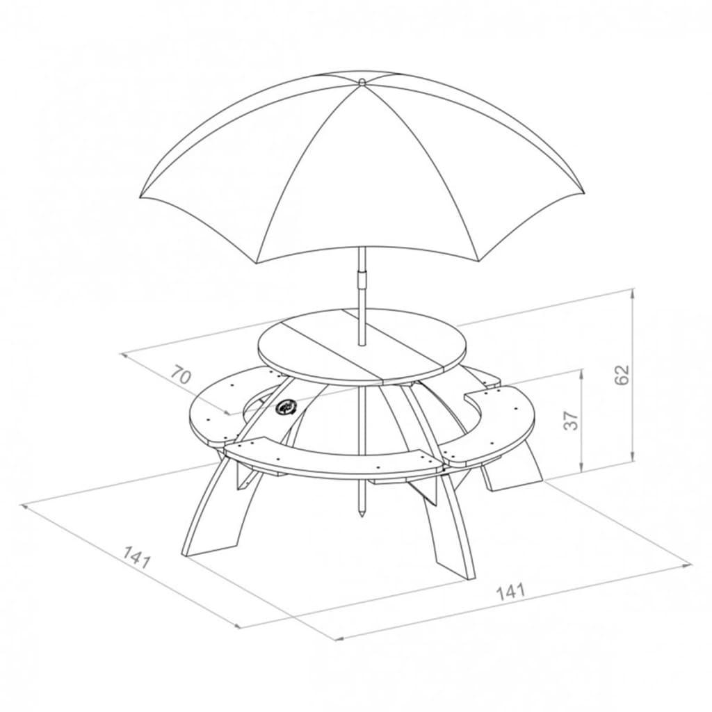 AXI Picknicktisch für Kinder Orion Braun und Weiß A031.024