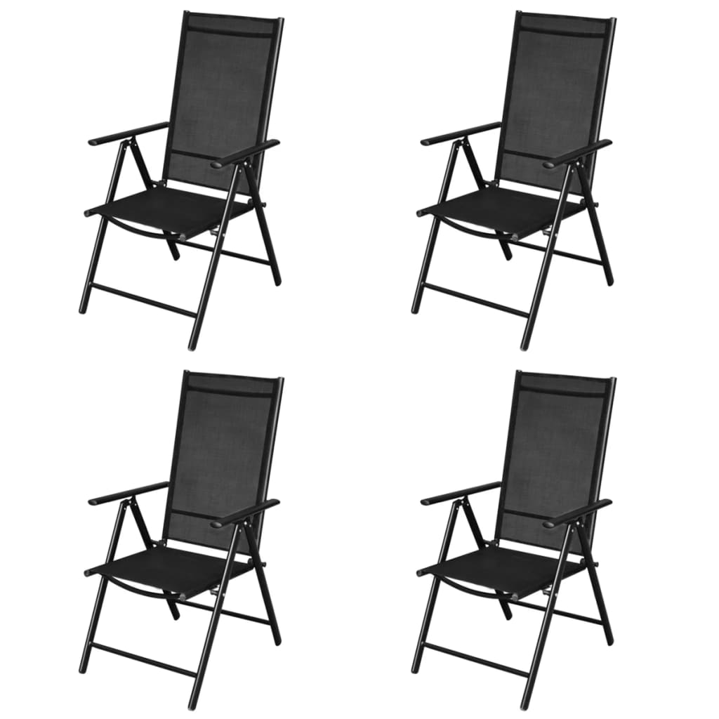 folding chair set gym design 4 pcs aluminium vidaxl co uk