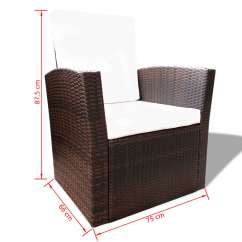 Oxford 4 Piece Brown Rattan Effect Sofa Set Throw Covers Bed Bath Beyond Vidaxl Outdoor Poly Lounge With Cushions