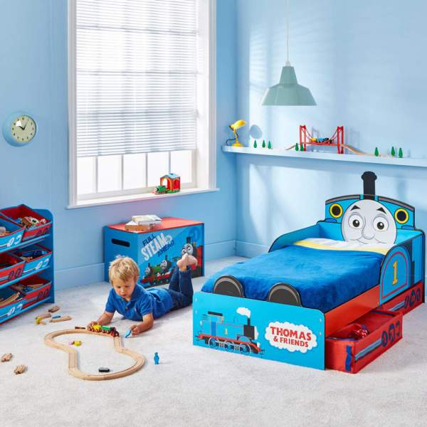 Thomas & Friends Toddler Bed With Drawer 143x77x67 Cm Blue