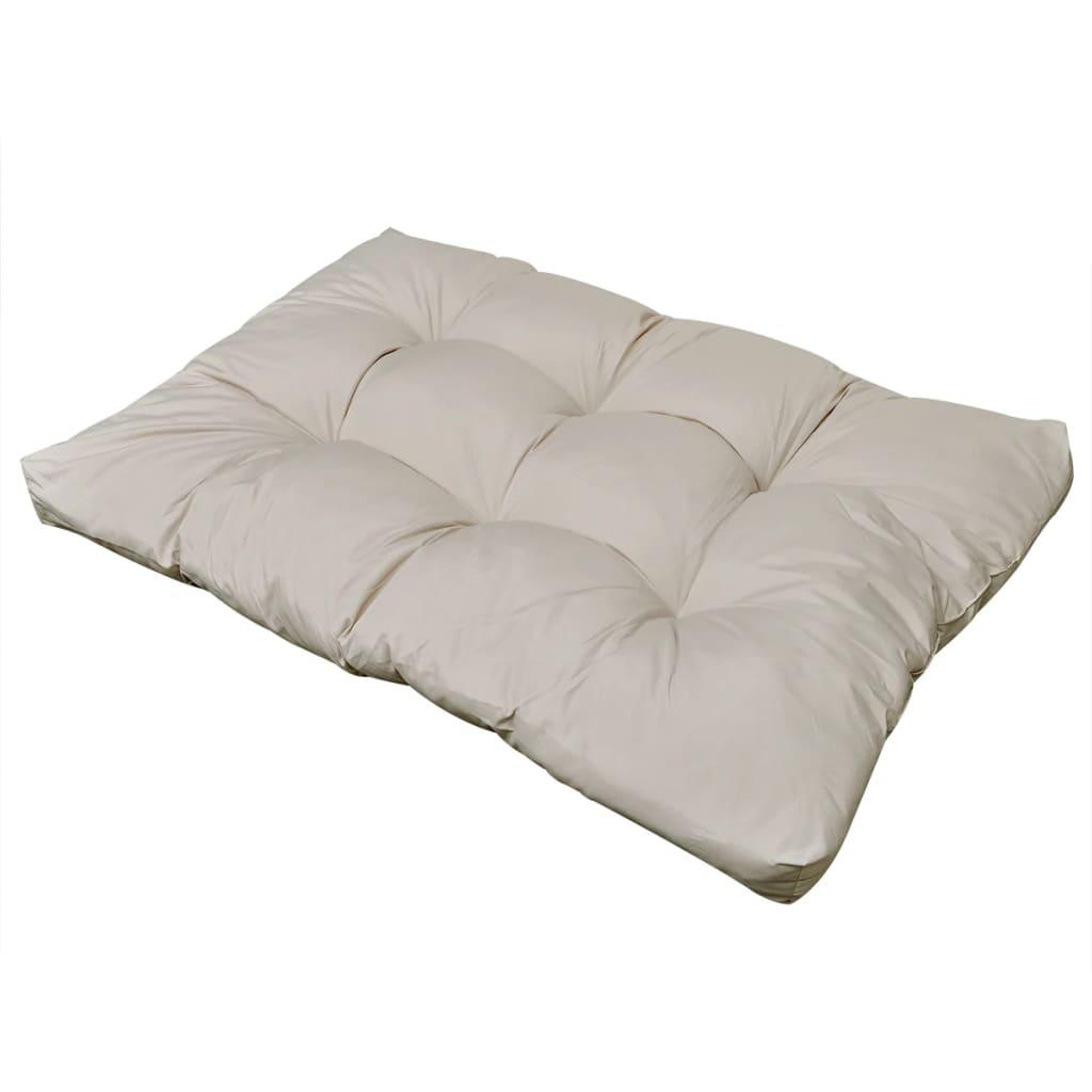 Cuscino da seduta imbottito bianco sabbia 120 x 80 x 10 cm