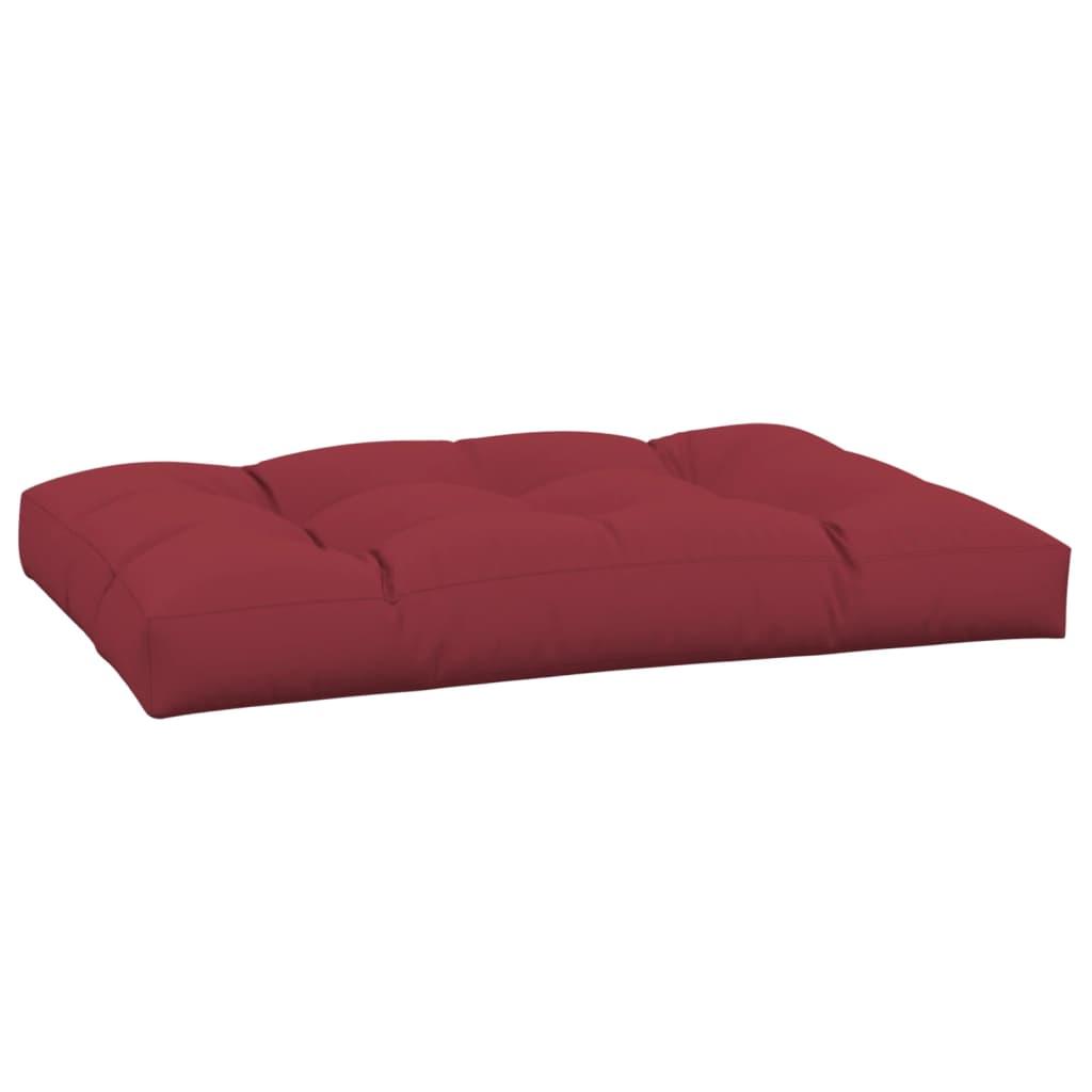 Cuscino da seduta imbottito rosso vino 120 x 80 x 10 cm