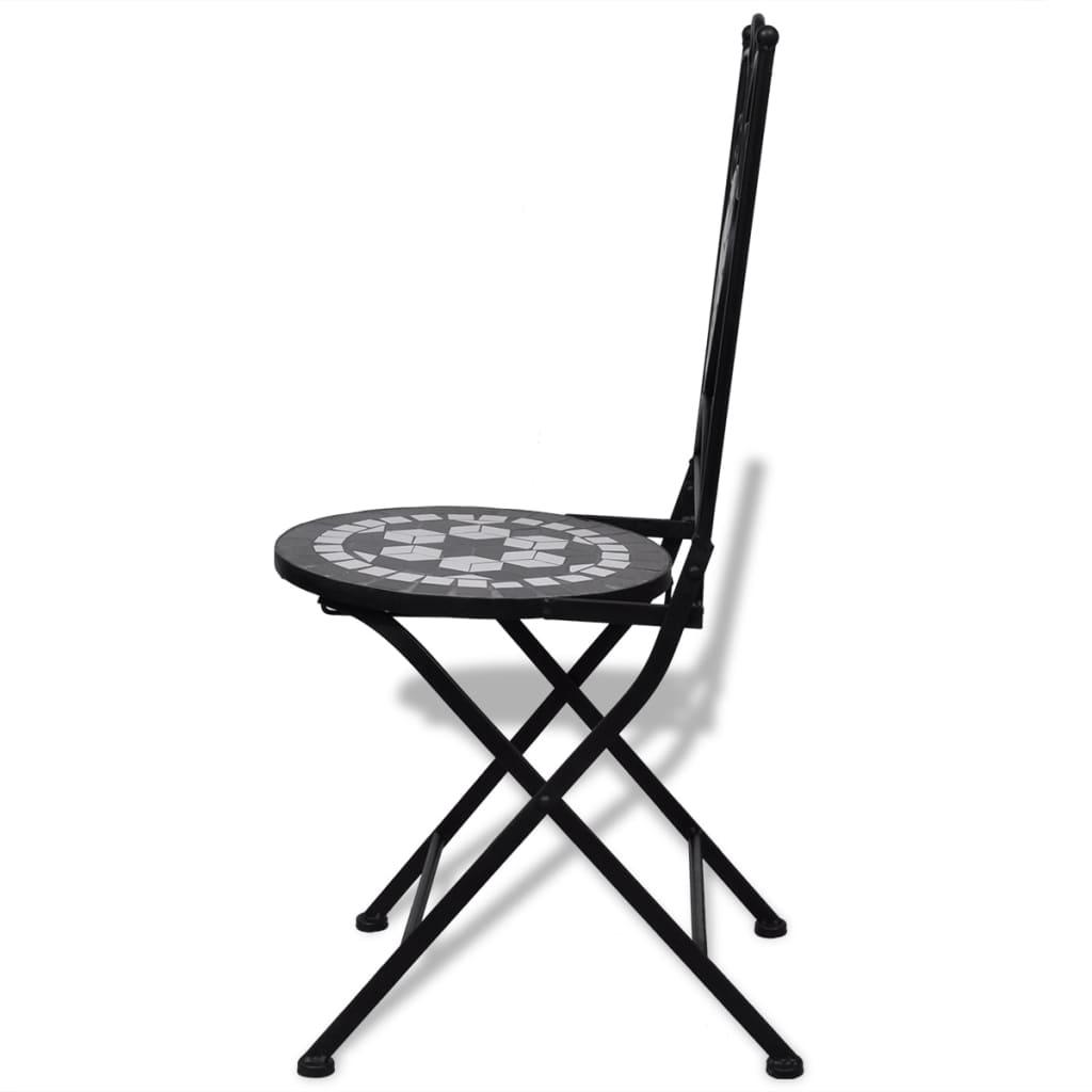 white bistro chairs ski lift chair swinging mosaic black set of 2 vidaxl co uk