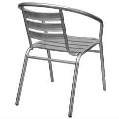 Stacking Dining Chairs Uk Steelcase Amia Chair Adjustments 4 Stackable Aluminium Garden Vidaxl Co
