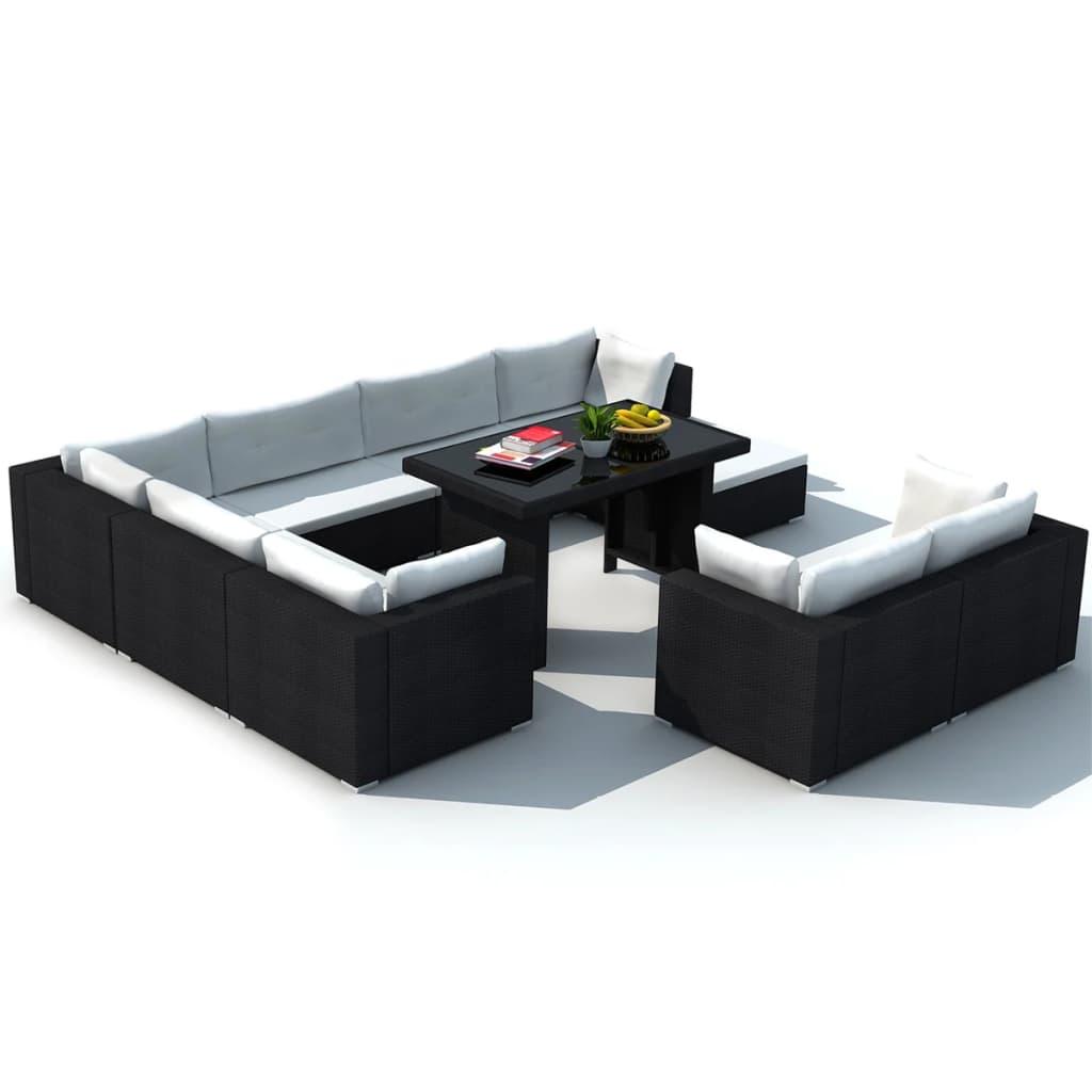 oxford 4 piece brown rattan effect sofa set sage sectional vidaxl 28 dining lounge black poly