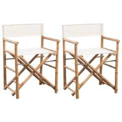 Directors Chair Covers Uk Dinning Room Vidaxl Folding Director 39s Bamboo And Canvas