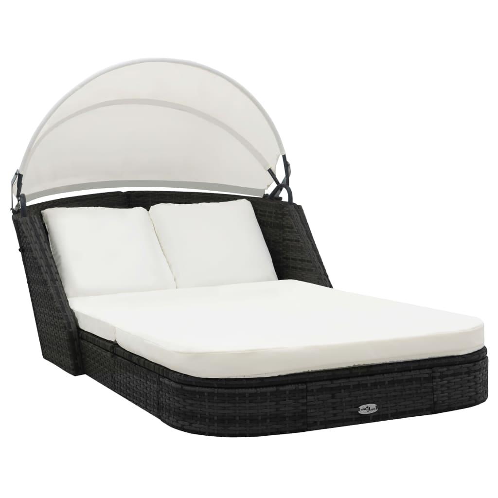 canopy daybed outdoor wicker sun sofa lounge repair chennai ambattur vidaxl rattan lounger garden day bed
