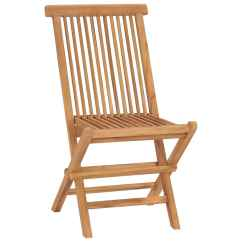 Teak Folding Chair Sit Stand Vidaxl 2 Pcs 47x60x89 Cm Co Uk
