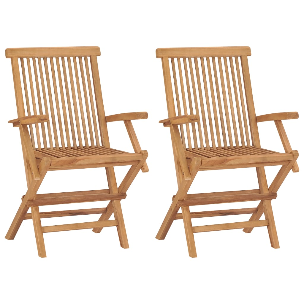 Garden Chair Vidaxl Teak Garden Chairs 2 Pcs 55x60x89 Cm Vidaxl Co Uk