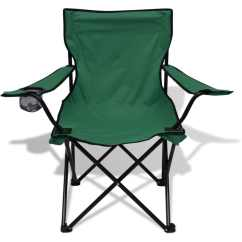 Green Chair Covers For Sale Stool Meaning Vidaxl Three Piece Camping Table And 2 Chairs