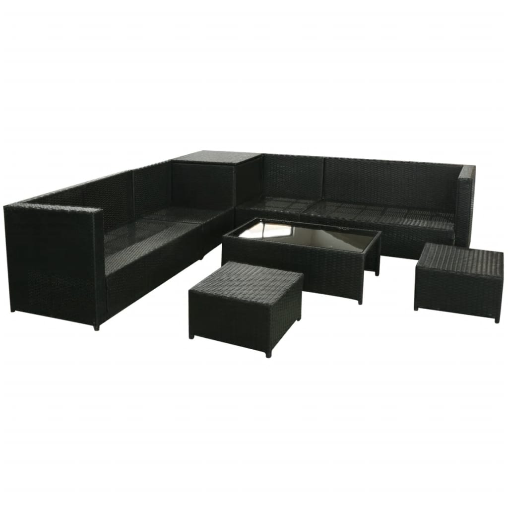 rattan 4 piece sofa set black designer sofas for you blackburn vidaxl 26 garden poly
