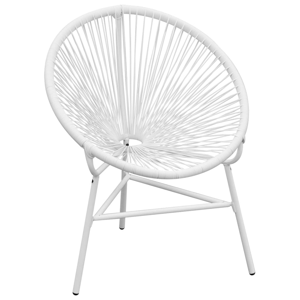 amazon round chair covers sure fit nz vidaxl garden poly rattan white co uk