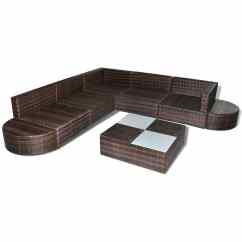 Oxford 4 Piece Brown Rattan Effect Sofa Set Day Night Beds Vidaxl 27 Garden Lounge Poly