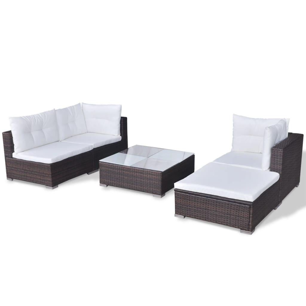 oxford 4 piece brown rattan effect sofa set cover fabric india vidaxl 14 garden poly