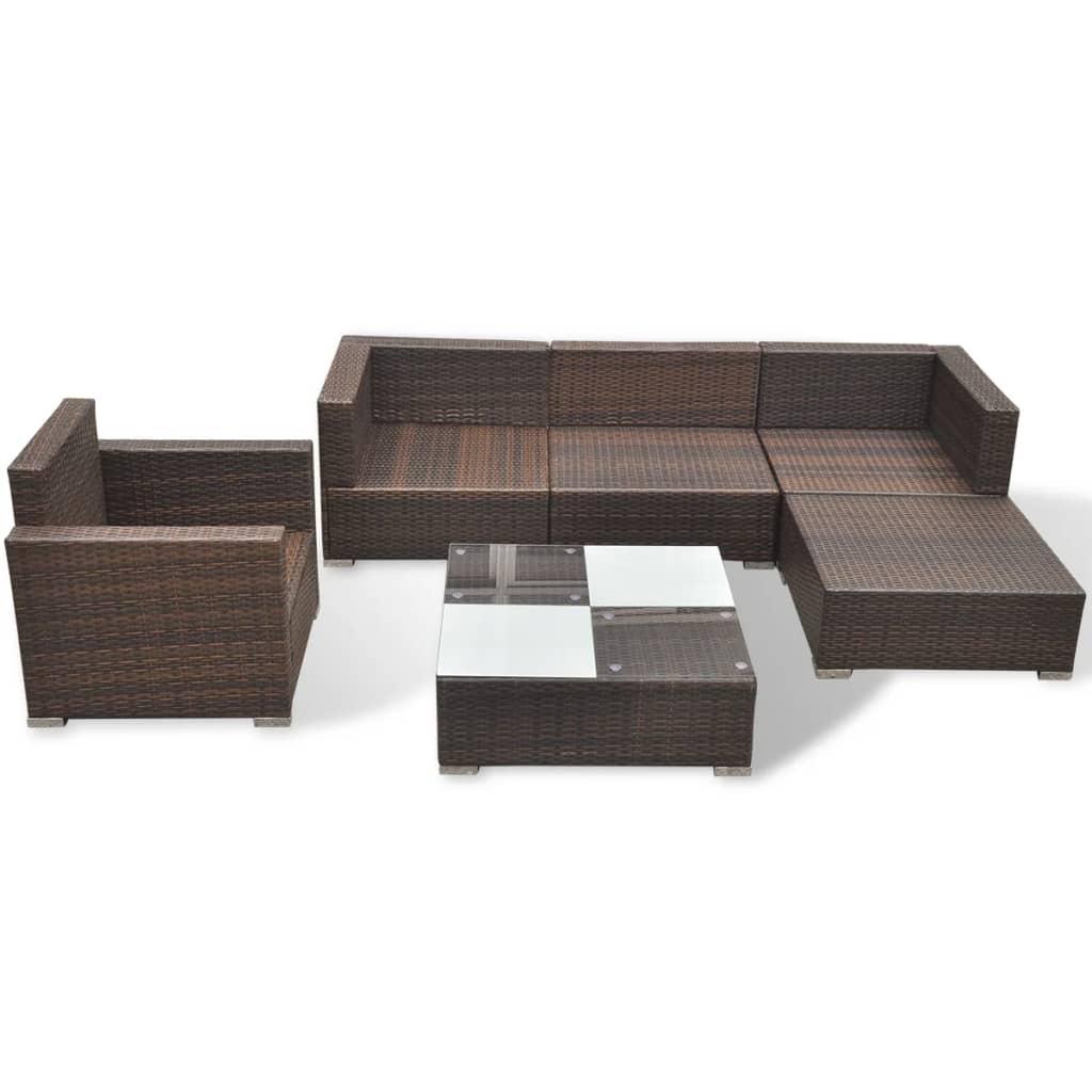 oxford 4 piece brown rattan effect sofa set 80 inch leather sofas vidaxl 17 garden poly