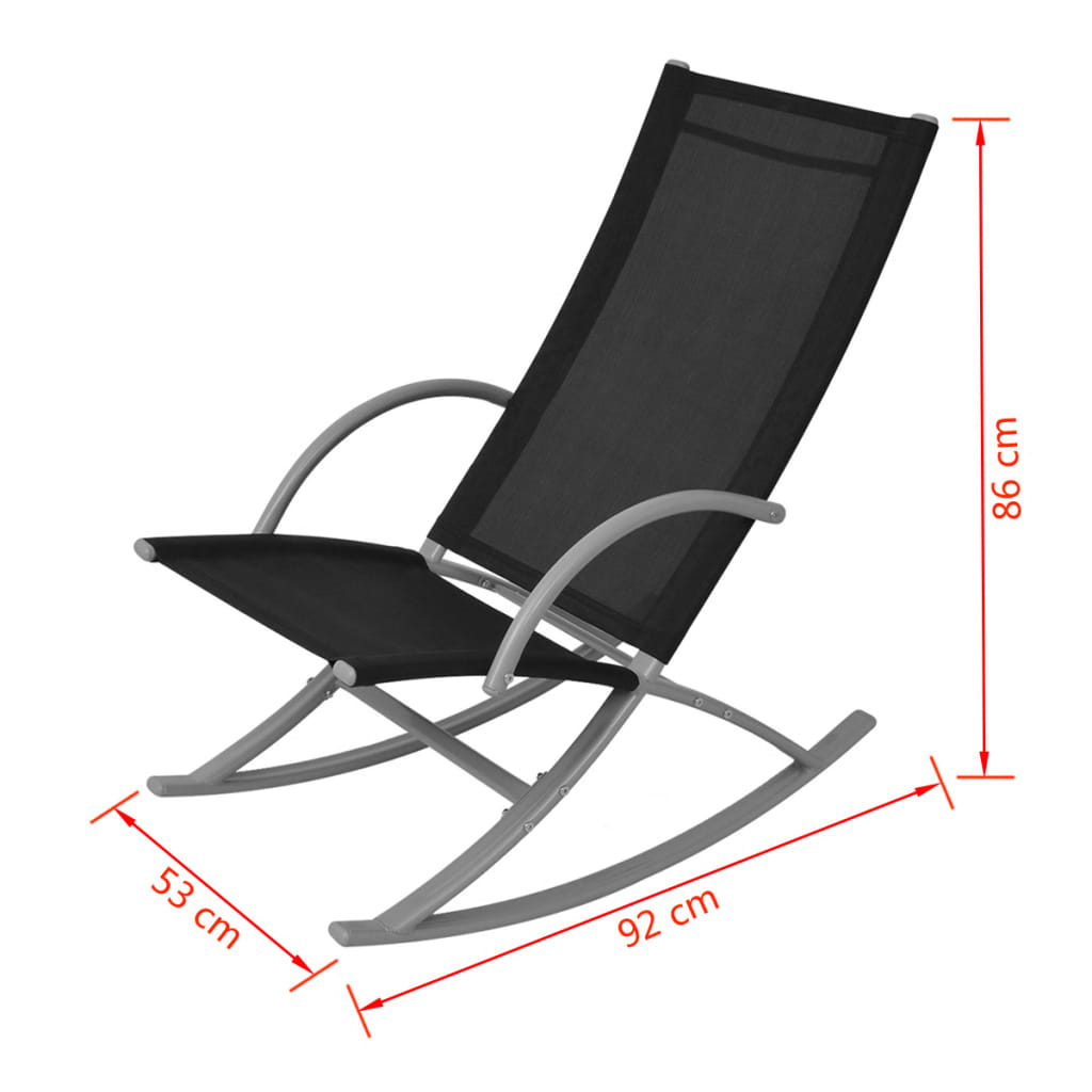 2 rocking chairs instrumental oversized chaise lounge chair vidaxl garden pcs black co uk