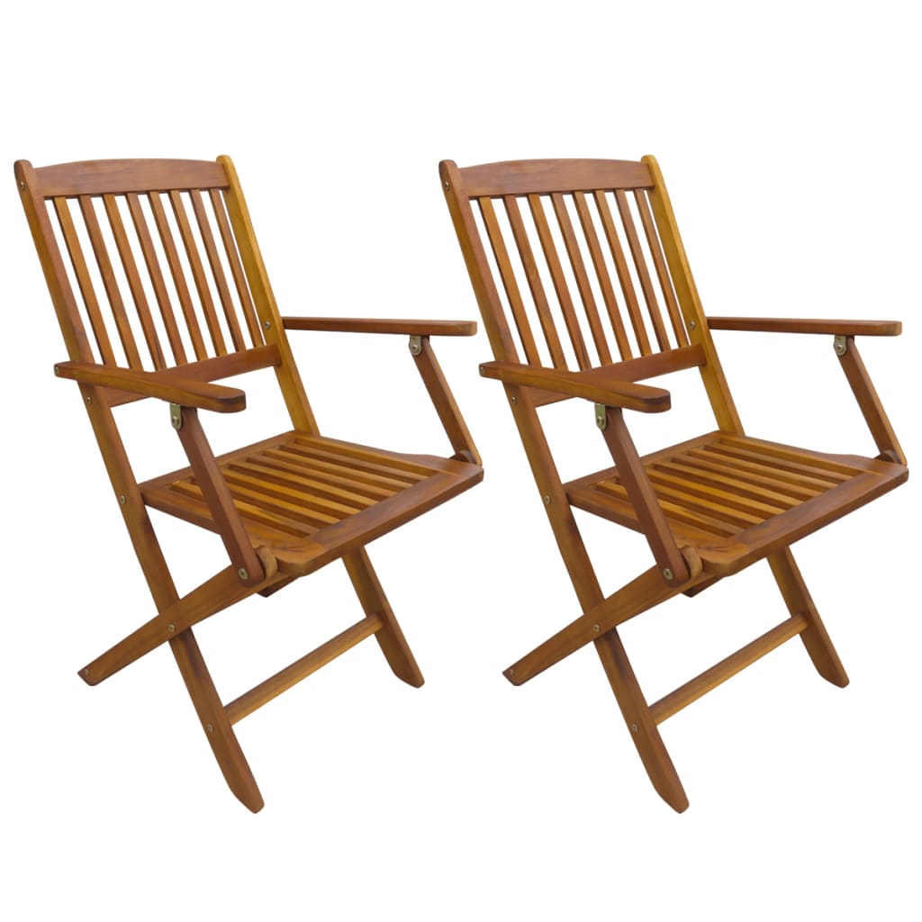 Foldable Dining Chairs Vidaxl Outdoor Folding Dining Chairs 2 Pcs Acacia Wood
