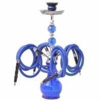 Water Pipe Hookah Shisha 4 Hose Blue | vidaXL.ie