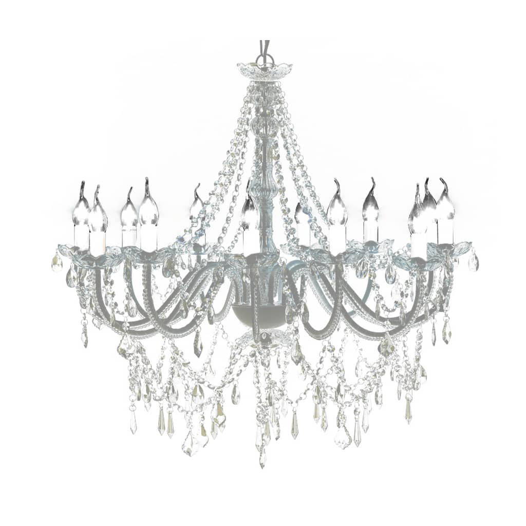 Vidaxl Chandelier With Crystals White Pendant Light