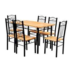6 Chair Dining Table Beach Bathroom Accessories And Chairs Light Wood Vidaxl Co Uk