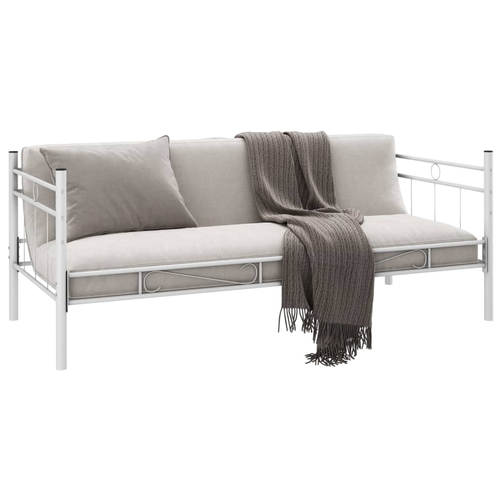 Metallbett Einzelbett 90 x 200 cm weiß günstig kaufen