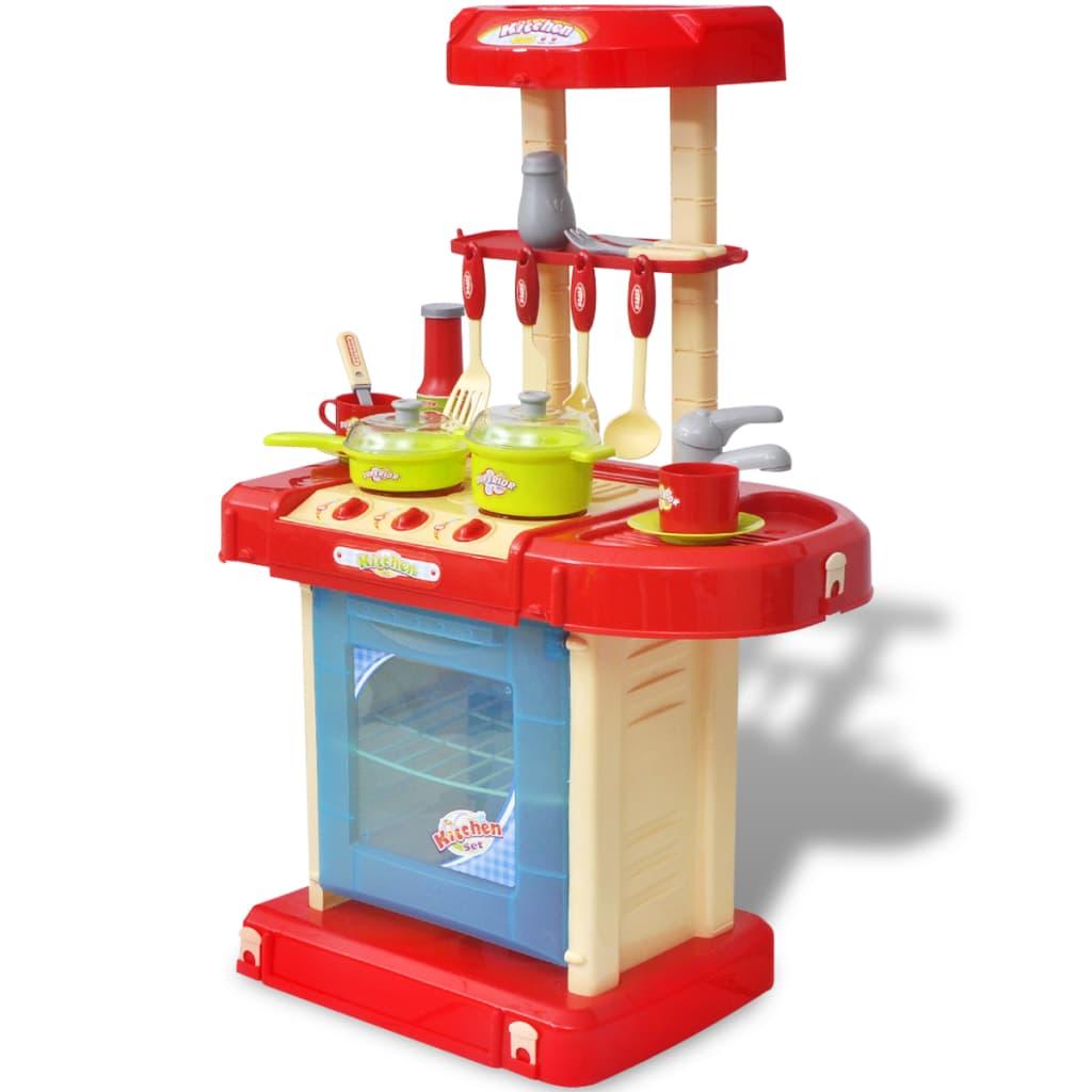 Cocina de juguete para nios con efectos de luz y sonido