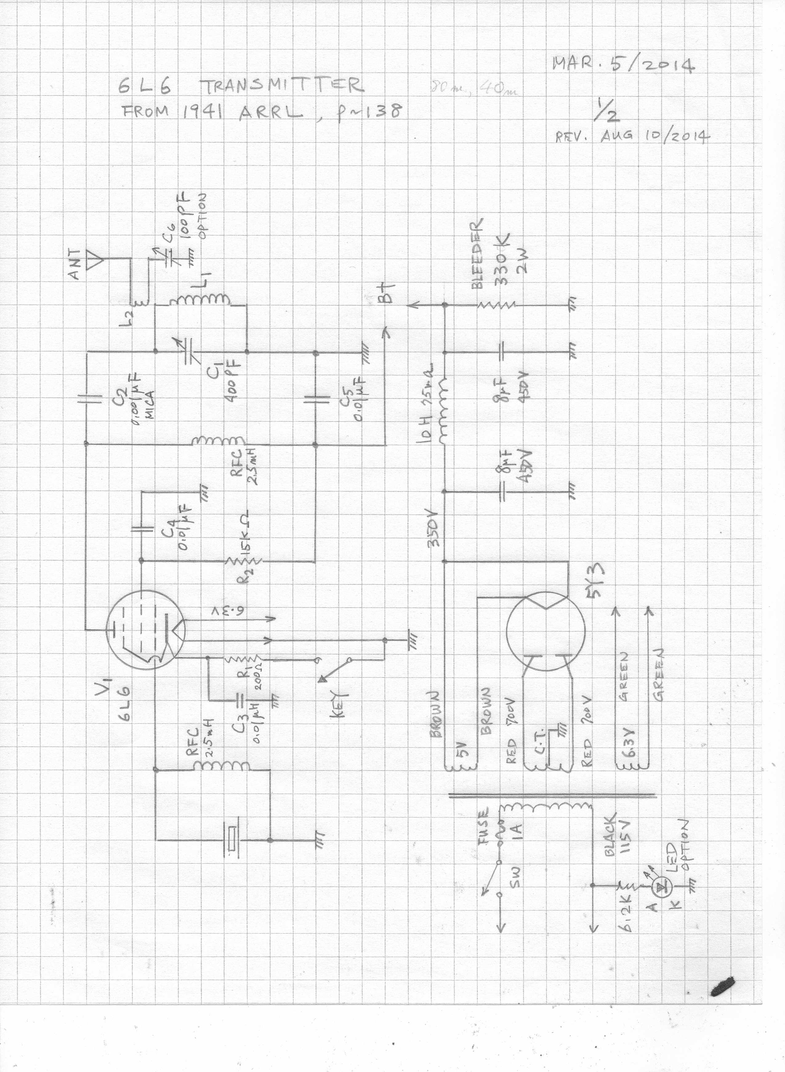 A 6l6 Qrp Cw Transmitter 6l6 Qrp